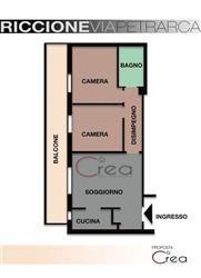 Trilocale in Viale Petrarca, Riccione