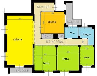 Quadrilocale in Via Negri, B.ra Genova, Piacenza