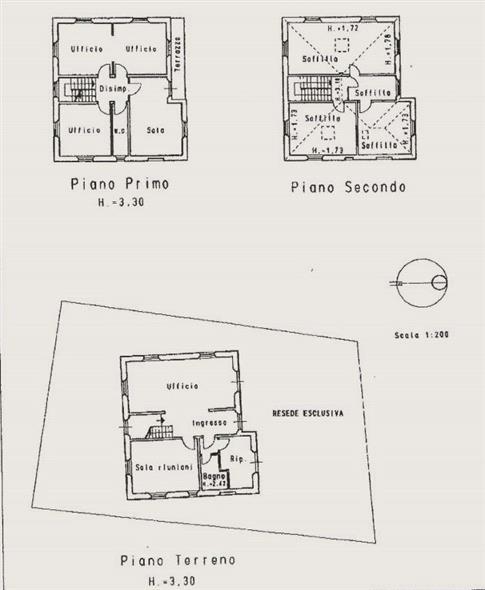 Piantina: Villa, Arancio, Lucca, ristrutturata