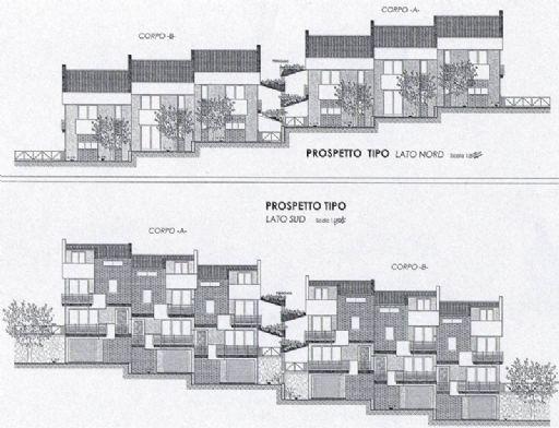 Vendita villa a schiera vallo scalo salento in nuova for Prospetti per villette