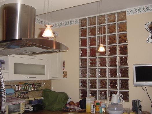 Pareti Di Vetromattone : Vetrocemento cucina soggiorno pareti divisorie e porte in vetro